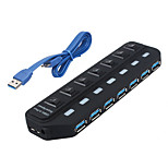 USB 3.0 7 Ports/Interface USB Hub with Separate Switch 15.8*45*2