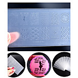New Environmental Engineering-plastic Nail Art Stamping Plate DIY Nail Polish Design Printing Template Tools