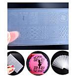 New Environmental Engineering-plastic Nail Art Stamping Plate DIY Nail Polish Design Printing Template Tools
