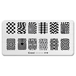 BlueZOO Rectangle Printing Nail Art Stamping (C-018)