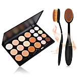 20 Colors Contour Face Cream Makeup Concealer Palette + +1PCS Masterclass Oval Foundation Makeup Brush