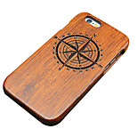 Pear Wooden Small Compass Carving Protective Back Cover Hard iPhone Case for iPhone SE/iPhone 5S/iPhone 5
