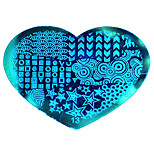 BlueZOO Love Blue Nail Art Stamping (13)
