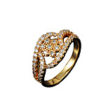 Fashionable lady real zircon inlay daily Promise Ring