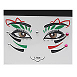 Abstract Pat Nightclubs Party Red Face Sticker LT-028