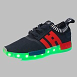 Boys' Shoes Outdoor / Athletic / Casual Synthetic Fashion Sneakers Black / Blue / RedLED shoes