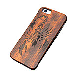 Back Cover Ultra-thin / Other Other Wooden Hard Carved,ScorpionCase Cover ForApple iPhone 6s Plus/6 Plus / iPhone 6s/6