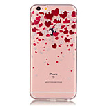 TPU Love Pattern Transparent Soft Back Case for iPhone 6s 6 Plus
