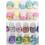 1set 12 Colors New Small Bottle Nail Art Glitter Hexagon Sticker Colorful Colors Design Nail Art DIY Decoration NC321