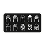 BlueZOO Ebay Blue Rectangle Nail Art Stamping (6)