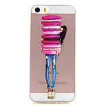Back Cover Transparent Body Transparent TPU SoftApple iPhone SE/5s/5