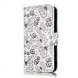 PU Leather Embossed Group Butterflies Wallet Case with 9 Card Slots for iPhone SE 5s 5