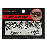 Abstract Fashion Lace Hollow Black Face Sticker YT-002