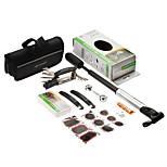 SAHOO 16 in 1 Bicycle Cycling Tyre Repair Multi Tool Set Kits With Portable Mini Pump Bicycle Repair Tools
