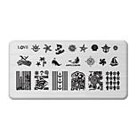 BlueZOO Rectangle Printing Nail Art Stamping (C-023)