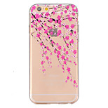 TPU Peach Blossom Pattern Transparent Soft Back Case for iPhone 6s 6 Plus