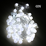 5m førte string lys med 50led bold AC220V ferie dekoration lampe festival julelys udendørs belysning