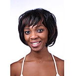 Europe And The United States The New Black Polyester DEyed Red Natural Curly Wigs 10 Inch