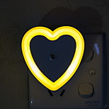 Creative Changeable Color  Heart Shape Light Sensor Night Light