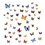 60 PCS Colorful Butterfly DIY Wall Stickers Fashion PVC Removable Wall Decals