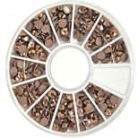 1pcs 4mm Chocolate New Round Bowl Nail Art Flat Rhinestones Nail Art DIY Decoration NC307