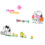 Cartoon Snoopy Dog Kids Bedroom Wall Stickers PVC Removable Kindergarten Wall Decals