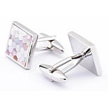 Men's Fashion Luxury Shell Pattern Alloy French Shirt Cufflinks (1-Pair)