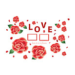 Wall Stickers Wall Decals Style Red Rose Photo Frame PVC Wall Stickers