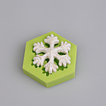 Fonddant Cake Decorating Tools 3D Snowflake Christmas Silicone Mold for Cupcake Candy Chocolate Soap Clay Fimo Resin