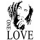 8143 BOB MARLEY ONE LOVE Wall Decals English Proverbs Stickers Living Room Backdrop Removeable the Wallpaper