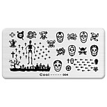 BlueZOO Rectangle Printing Nail Art Stamping (C-004)