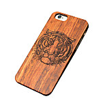 Back Cover Ultra-thin / Other Animal Wooden Hard TigerCase Cover ForApple iPhone SE/5s/5