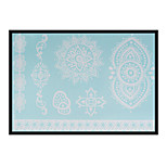 Lovely HENNA Lace Big White Face Sticker 04