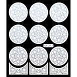 Nail Art Template Sticker-Flower Template(NF313-WHITE)