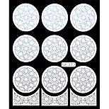 Nail Art Template Sticker-Flower Template(NF313-WHITE)