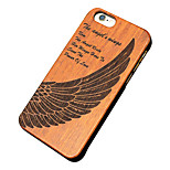 Back Cover Ultra-thin / Other Feathers Wooden Hard CarvedCase Cover ForApple iPhone 6s Plus/6 Plus / iPhone 6s/6