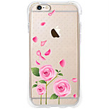 Full Body Case Transparent Body Flower TPU Soft Airbag AntifallCase Cover ForApple iPhone 6s Plus/6 Plus / iPhone 6s/6