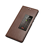 Ultra thin Genuine Leather Stand Window Sliding Answer Smart Flip Case Cover with Auto Sleep/Wake Feature for Huawei P9