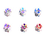 6PCS  Patterns AB alloy jewelry  Random Color