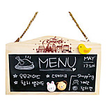 Log Hanging Chain Magnetic Double Work, Office Whiteboard, Wooden Creative Message Board