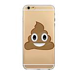 TPU caso suave transparente expresión historieta para el iphone 6 / iPhone6 plus