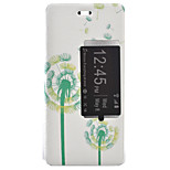 Dandelion Painted Voltage Holster PU Material Clamshell Phone Cover for Huawei Ascend P9/P9 Lite