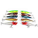 Lot 10 Pcs 9cm 12g Fishing Lure Set Kit Bass Minnow Popper Spinner Baits Crankbaits Hooks Lures Freshwater