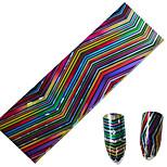 1pcs 100*4CM Nail Art Transfer Glitter Stickers DIY Geometric Magical Color Wave Stripe Image Nail Art Design  CS05-08