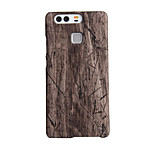 AWEI Shell Wood Carbon Fiber Hull PU Case for HUAWEI P9 Plus