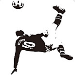 Football Star Wall Decals Abstract / Sports / 3D Wall Stickers Plane Wall Stickers,vinyl 56*77cm