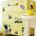 Despicable Me Family Cartoon Refrigerator Wardrobe Wall Stickers Fashion PVC Minions Wall Decals