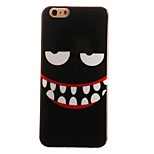 cassa nera smiley modello TPU + materiale IMD telefono per 6S iphone plus / 6 plus / 6S / 6