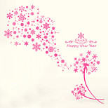 Wall Stickers Wall Decals Style Pink Snowflake Dandelion PVC Wall Stickers
