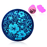 1pcs Nail Printing Plate Flower OM-14
